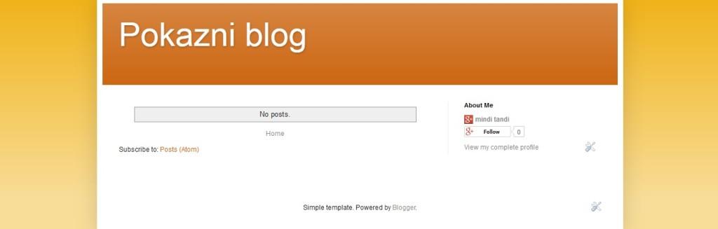 Izbor promjena teme za Google blog blogger