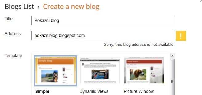 Kako napraviti blog na Google Bloggeru