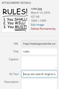 šta je seo search engine wordpress blogger niche seo pravila
